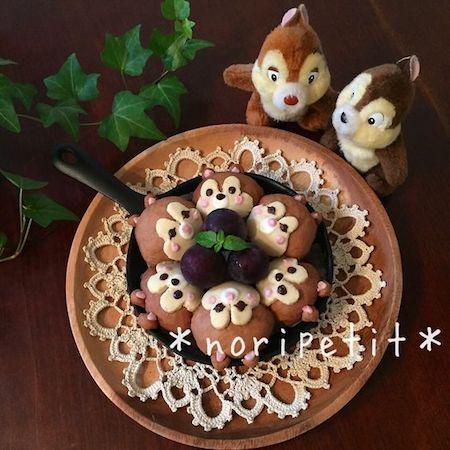 tigiri011 min - ディズニーデザインの【ちぎりパン】〜クリスマス、ハロウィン、イースターなどパーティーにも大活躍!!