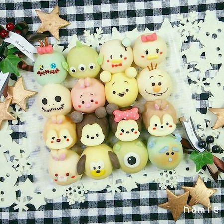 tigiri07 min - ディズニーでクリスマスの食卓を楽しみたい 〜 かわいいディズニーちぎりパン