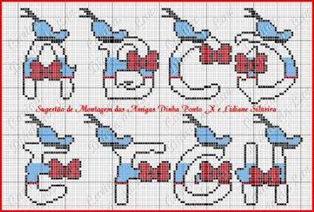 cros016 min - クロスステッチでイニシャル刺繍 〜 かわいいディズニーアルファベットの無料図案