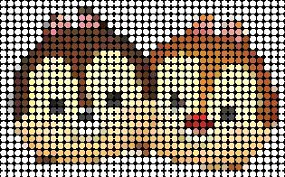 tsuzu013 min - ディズニーツムツム 図案14点 〜 アイロンビーズ アクアビーズの無料図案から作り方まで
