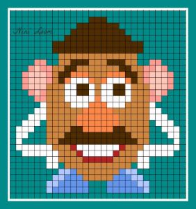 pi013 min 282x300 - アイロンビーズで作る「ディズニー/ピクサー」キャラクター〜無料図案31選!!