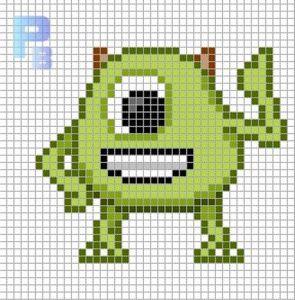 pi018 min 295x300 - アイロンビーズで作る「ディズニー/ピクサー」キャラクター〜無料図案31選!!