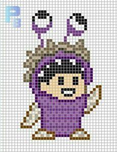 pi019 min 230x300 - アイロンビーズで作る「ディズニー/ピクサー」キャラクター〜無料図案31選!!