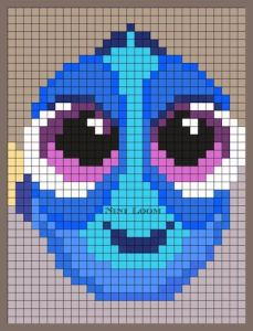 pi025 min 229x300 - アイロンビーズで作る「ディズニー/ピクサー」キャラクター〜無料図案31選!!