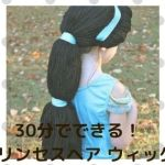 j001 min - 【ディズニープリンセスヘア ウィッグ】30分でできる簡単、速い、低価格のオリジナルウィッグ〜仮装にぴったり!!