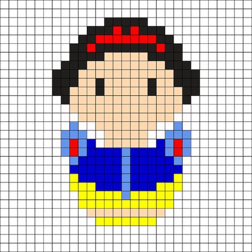 sikaku015 min - 【アイロンビーズ無料図案】四角いプレートを利用してディズニーキャラクターを作ろう!!〜フレンズからプリンセスまで【15点追加】