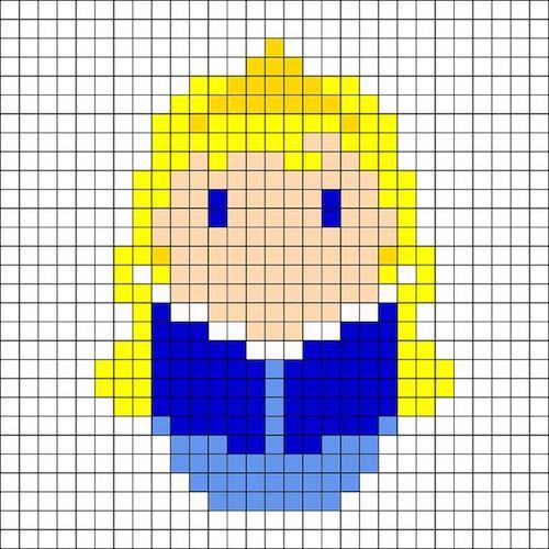 sikaku016 min - 【アイロンビーズ無料図案】四角いプレートを利用してディズニーキャラクターを作ろう!!〜フレンズからプリンセスまで【15点追加】