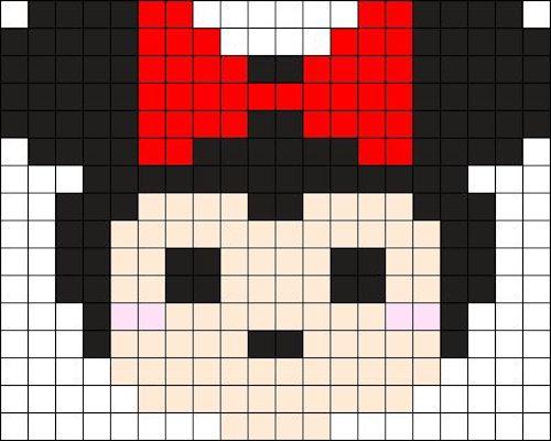 sikaku02 min - 【アイロンビーズ無料図案】四角いプレートを利用してディズニーキャラクターを作ろう!!〜フレンズからプリンセスまで【15点追加】