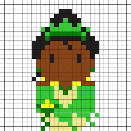 sikaku020 min - 【アイロンビーズ無料図案】四角いプレートを利用してディズニーキャラクターを作ろう!!〜フレンズからプリンセスまで【15点追加】