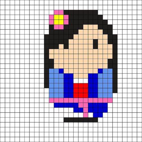 sikaku025 min - 【アイロンビーズ無料図案】四角いプレートを利用してディズニーキャラクターを作ろう!!〜フレンズからプリンセスまで【15点追加】
