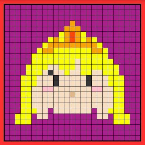 tuika014 min - 【アイロンビーズ無料図案】四角いプレートを利用してディズニーキャラクターを作ろう!!〜フレンズからプリンセスまで【15点追加】