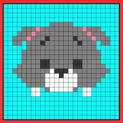 tuika015 min - 【アイロンビーズ無料図案】四角いプレートを利用してディズニーキャラクターを作ろう!!〜フレンズからプリンセスまで【15点追加】
