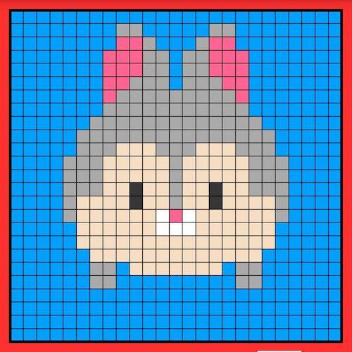 tuika06 min - 【アイロンビーズ無料図案】四角いプレートを利用してディズニーキャラクターを作ろう!!〜フレンズからプリンセスまで【15点追加】