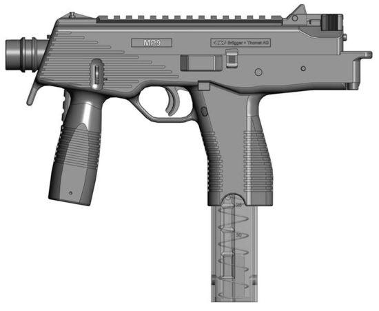 mp9 hafif makineli