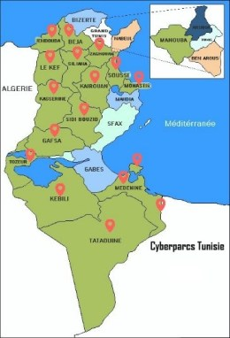 18 Cyberparcs en Tunisie