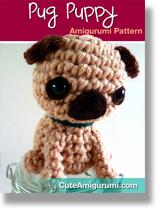 Pug Puppy Amigurumi Pattern