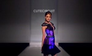 Eiza Gonzalez wears CuteCircuit Couture