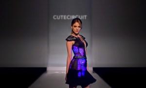 Eiza Gonzalez wears CuteCircuit Couture