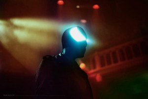 Bloody Beetroots wearing CuteCircuit Mask