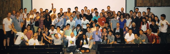 Hackathon UP Singapore January 2013 Group Photo
