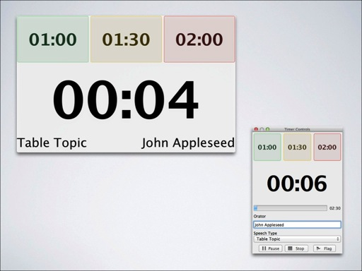 Speech Timer windows on Mac OS X