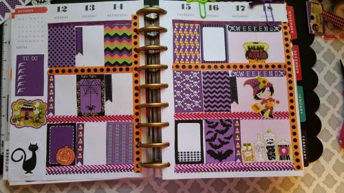 free printable halloween stickers used in Happy Planner