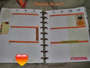 fall themed happy planner stickers