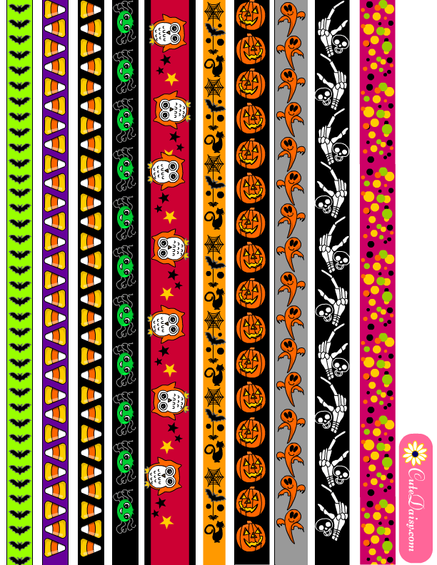 Modest image in free printable washi tape