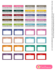 Free Printable Depression and Mood Tracking Stickers