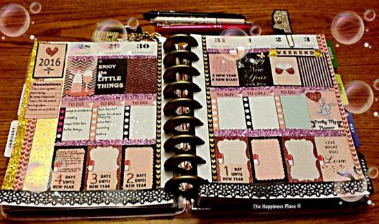 New year stickers in happy planner