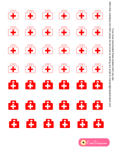 Free Printable Medical or First Aid Box Stickers