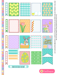 Free Printable Easter Stickers for Erin Condren Life Planner