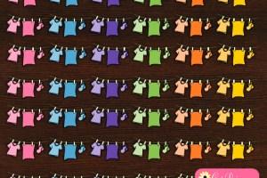Free Printable Laundry Line Stickers