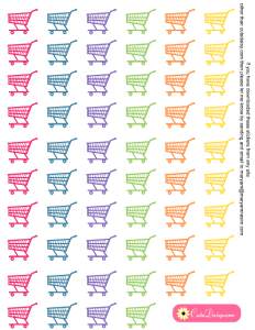 Free Printable Shopping Cart Stickers for Planner