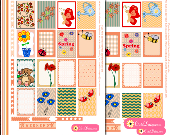 Free Printable Spring Stickers