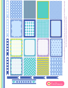 Happy Planner Stickers in Spring Colors