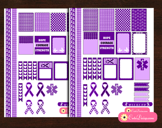 Epilepsy Awareness Stickers