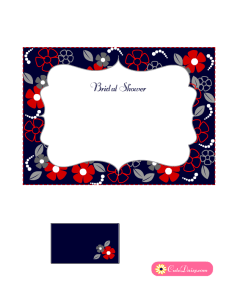 Free Printable Floral Bridal Shower Invitation Blue