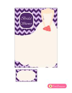 Bridal Shower Invitation in Lilac and Purple Color