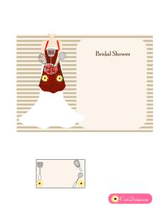 Printable Kitchen Bridal Shower Invitation in Red Color