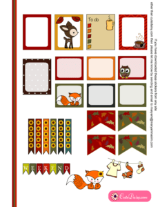 Free Printable Fall Stickers for Erin Condren Life Planner Set 2