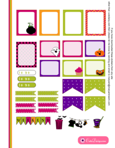 Free Printable Halloween Planner Stickers for ECLP