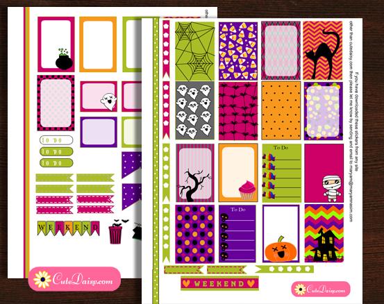 Free Printable Halloween Planner Stickers