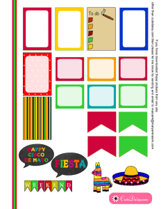Free printable Mexican stickers for Happy Planner 1