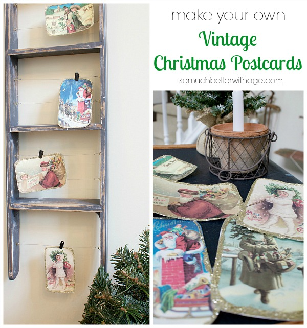 DIY vintage Christmas Postcards
