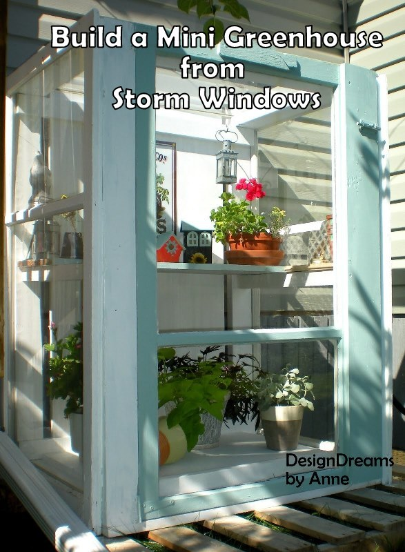 Build A Baby Greenhouse With Your Old House's Windows