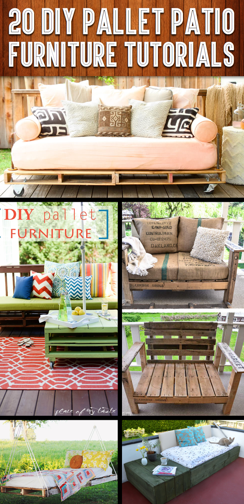 diy sofa from pallets original leather chesterfield 20 pallet patio furniture tutorials for a chic and practical outdoor