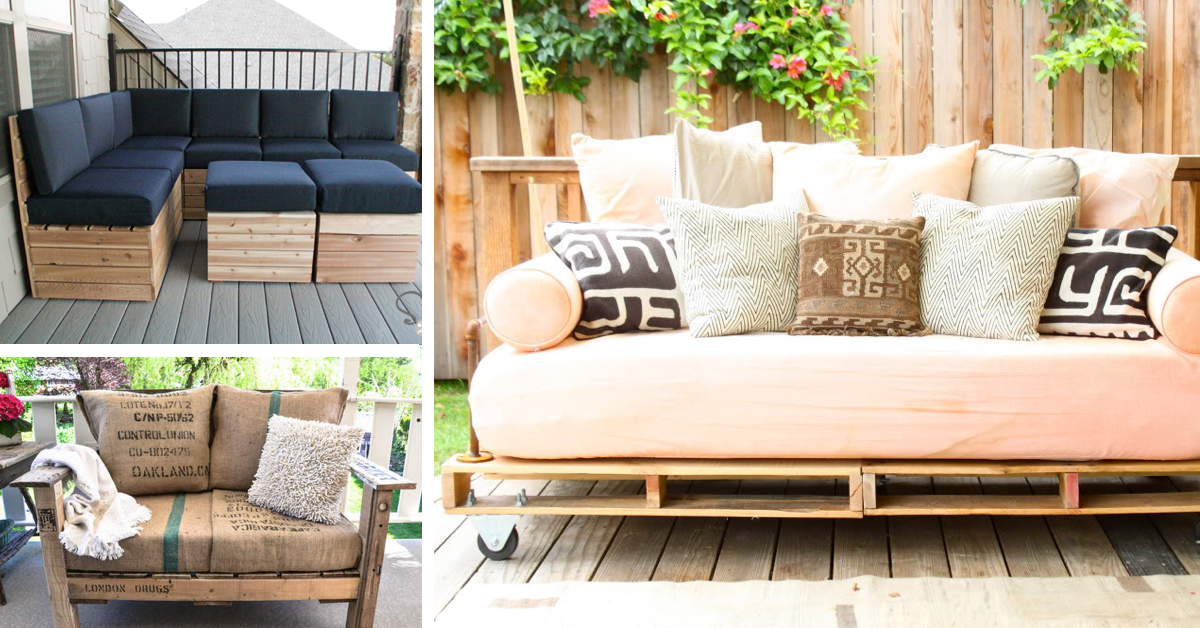 diy patio chairs tall folding 20 pallet furniture tutorials for a chic and practical outdoor cute projects