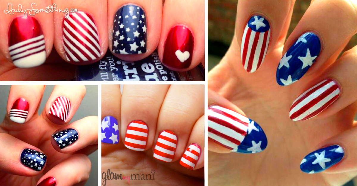 20 Amazing Patriotic Nail Designs For The 4th Of July Cute Diy Projects