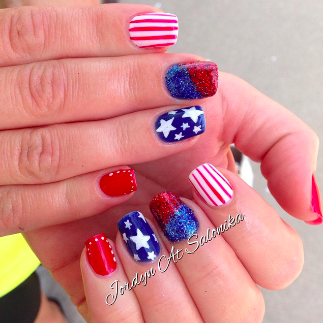 Mirroring Nail Art For The 4th Of July